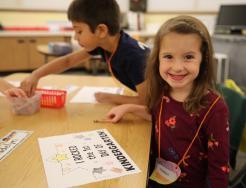 Mary Frank kindergartner on the 1st Day of Kindergarten