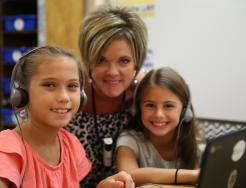 2nd grade Northpoint teacher Ms. Bogart with students