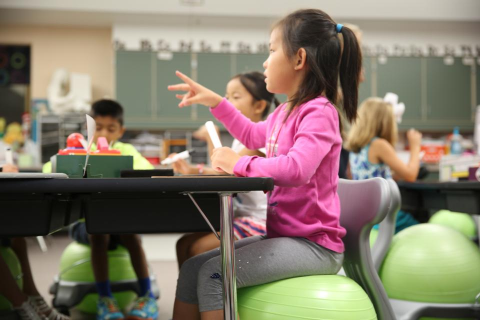 Yoga ball chairs used in this Northpoint classroom were made possible by a PHMEF grant.
